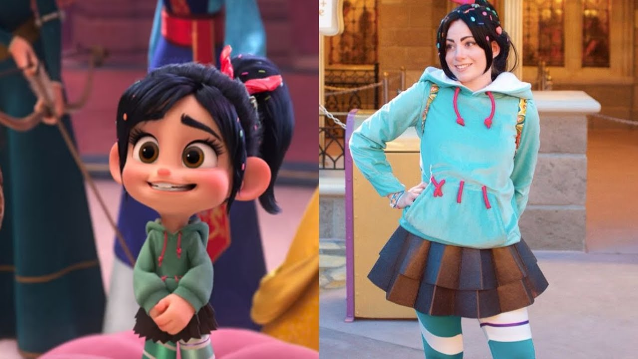 Wreck It Ralph 2 Characters In Real Life 2018 Ralph Breaks The Internet Youtube