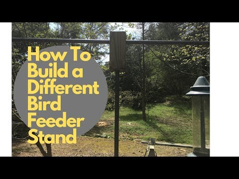 A Different Way To Build A Bird Feeder Stand With Easy Step By Step Instructions.