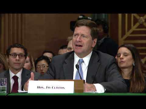 Sen. Warren Questions SEC Chairman about shareholder class-action lawsuits and the fiduciary rule