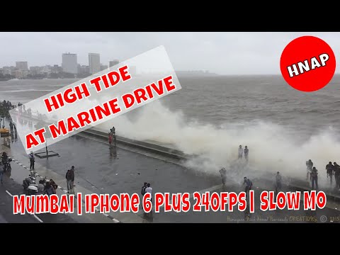 High Tide at Marine Drive, Mumbai | by Humayunn Niaz Ahmed Peerzaada | iPhone 6 Plus 240fps Slow Mo