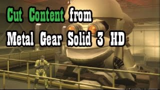 Cut Content from Metal Gear Solid 3 HD