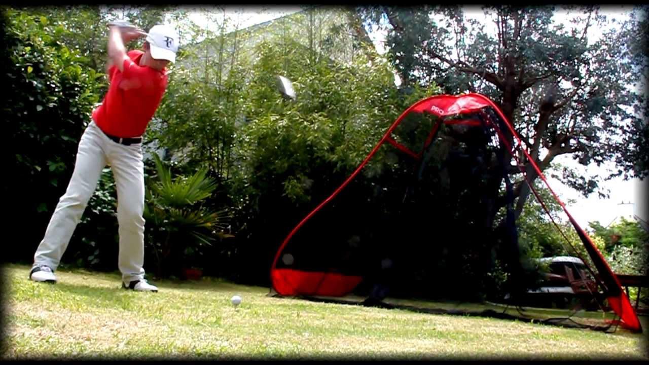 golf practice net proreturn hitting net youtube