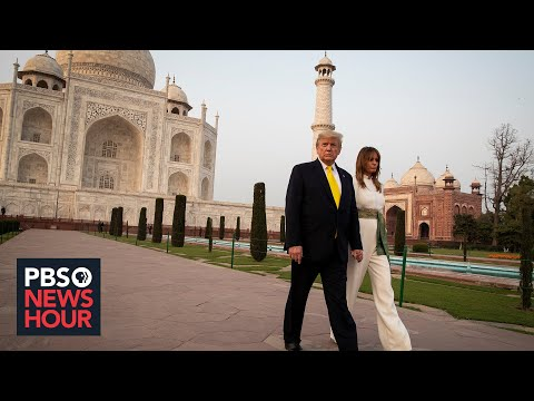 Trump's Visit To India Sparks Hero's Welcome Along With Protests