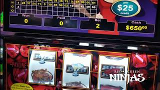 VGT SLOTS -  RED RUBY $75 MAX BET - NOT A SINGLE RED SPIN!!!!