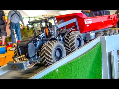 R/C tractors at hard work! Amazing RC tractor action compilation!