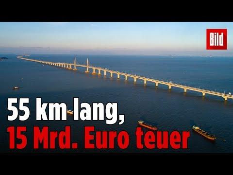 Längste Seebrücke der Welt eröffnet