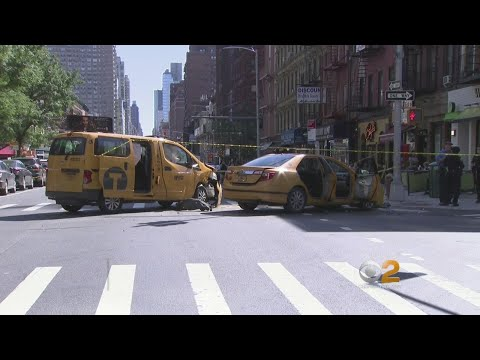 2 Taxis Collide On UES; Baby Struck