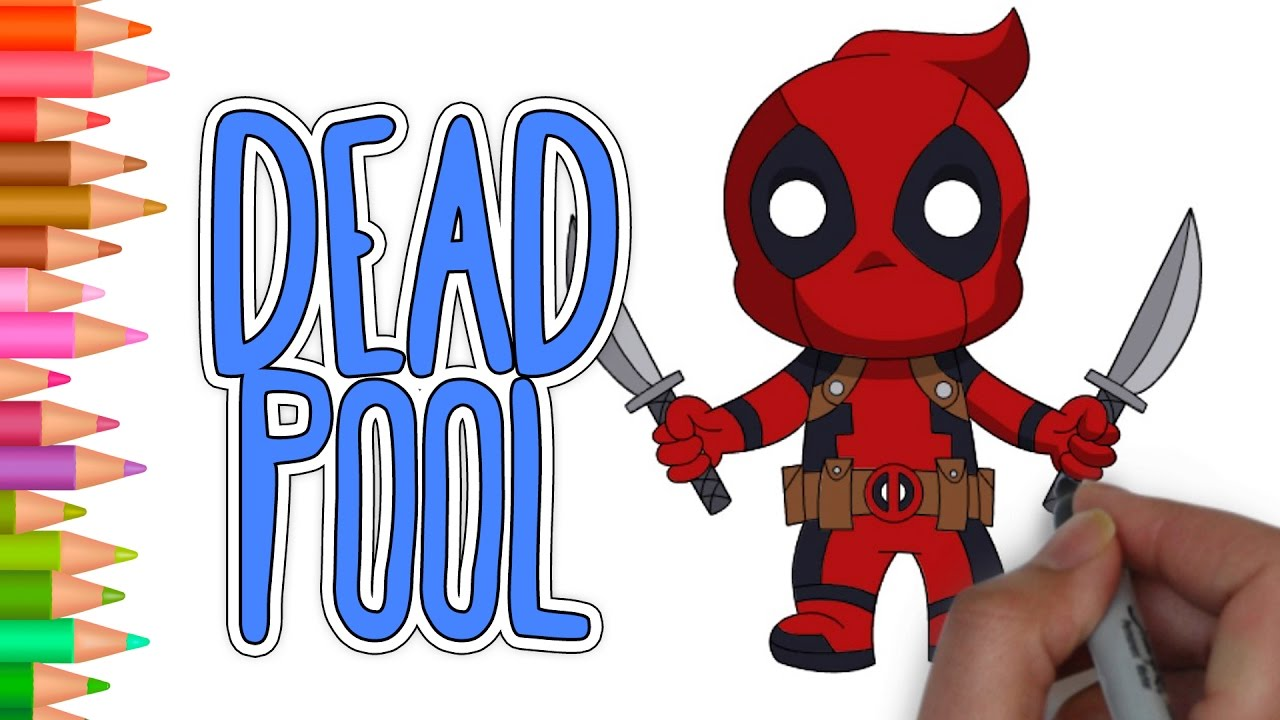 This is a photo of Sassy Chibi Deadpool Drawing