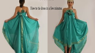 Tutorial - How to tie dress in a few minutes. No Sew No Cut.