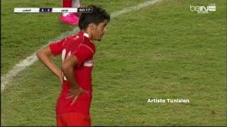 هدف سعد بقير من مخالفة مباشرة امام المغرب - تصفيات الشان كأس أفريقيا للمحليين 2016 (تونس - المغرب)