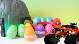 BLAZE AND THE MONSTER MACHINES TOYS Nickelodeon Golden Giant Egg Surprise Opening
