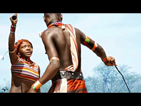 Woman Whipping .Hamer Tribe.Ethiopia . VIDEO by Mindia Midelashvili 2013
