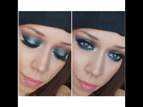 Emerald Teal Eye Makeup Look | Morphe Brushes 35C Palette & Bh Cosmetics Wild & Free Palette
