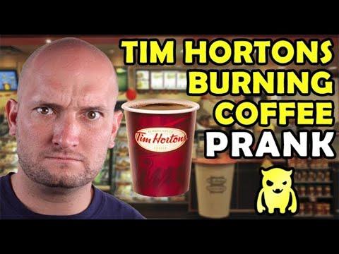 Tim Hortons Burning Coffee Prank - Ownage Pranks