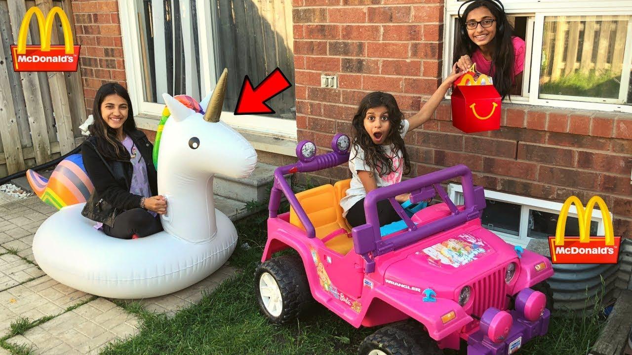 Mcdonalds Drive Thru Prank Inflatable Power Wheels Ride