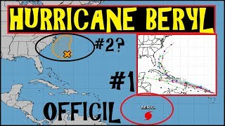 *BREAKING* HURRICANE BERYL 1st OFFICIAL Hurricane of 2018 Atlantic hurricane season