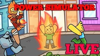 NEW UPDATE IN POWER SIMULATOR ON OUR OUR VIP SERVER!!! COME JOIN!! ROBLOX LIVE!