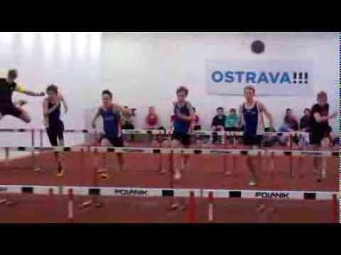 Lukas Martinak (60m hurdles -8,96) slow motion