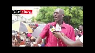Manifestation contre Station d'essence Pikine Guinaw rails
