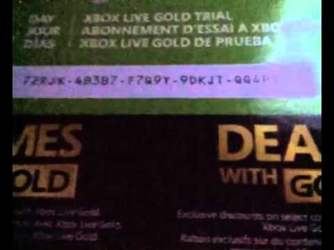 Free giveaway 7 day Xbox live gold trial