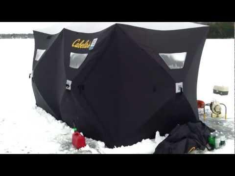 ice shanty hub shelter double hub 6 x 12 foot cabelas clam ice team