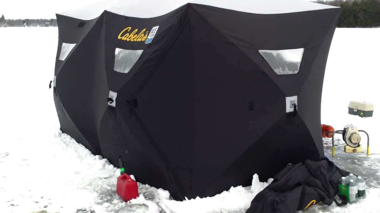 wholesale dealer d46bc 6553c ice shanty hub shelter double hub 6 x 12 foot cabelas clam ice team