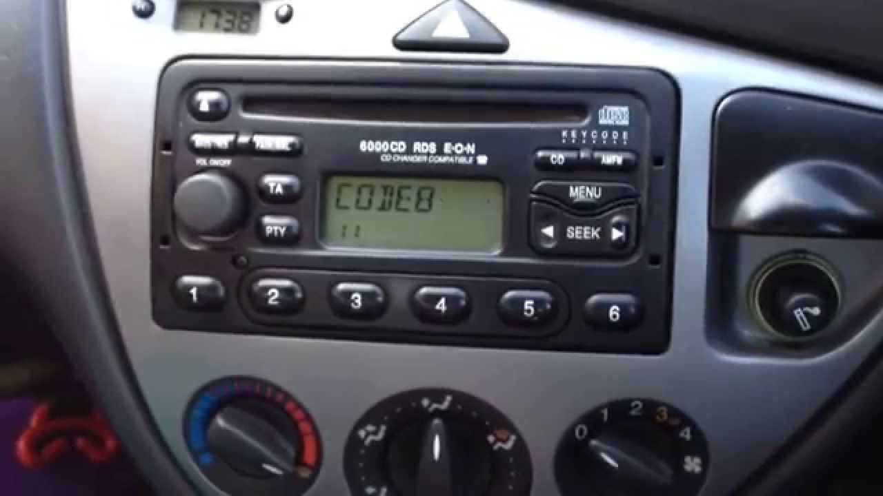 How to UNLOCK Ford Focus radio 6000CD on LOCK10 - YouTube