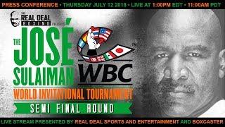 Jose Sulaiman World Invitational Tournament | Semi-Final Announcement Press Conference | LIVE STREAM