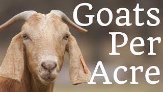 How Many Goats Per Acre?