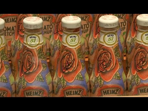 France 24:'Tomato Edchup': Ed Sheeran body art Ketchup bottles auctioned by singer for £1500