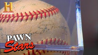 Pawn Stars: Yankee Baseball TOO EXPENSIVE for the Old Man (Season 1) | History