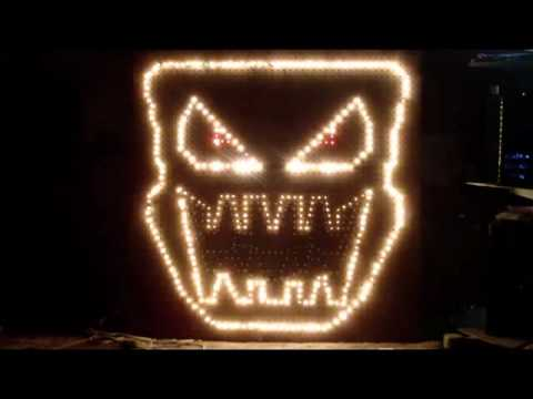 How to build Light O Rama singing faces with pegboard. - YouTube