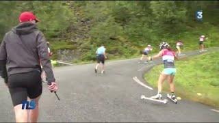L'équipe de France de biathlon à l'épreuve du ski-roues en Norvège