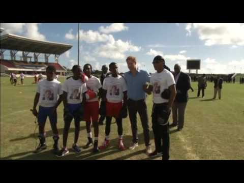 Antigua and Barbuda puts on sports show for Prince Harry