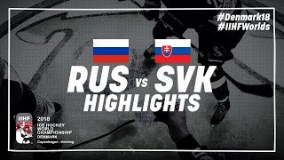 Game Highlights: Russia vs Slovakia May 14 2018 | #IIHFWorlds 2018