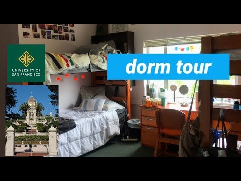 College Dorm Room Tour At The University Of San Francisco Youtube