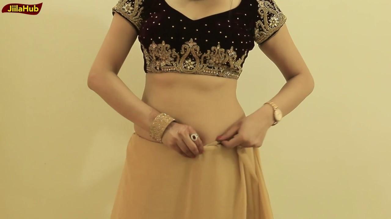 How To Wear Saree To Look Like Proper Lehenga Style | Wedding Saree Drape Style