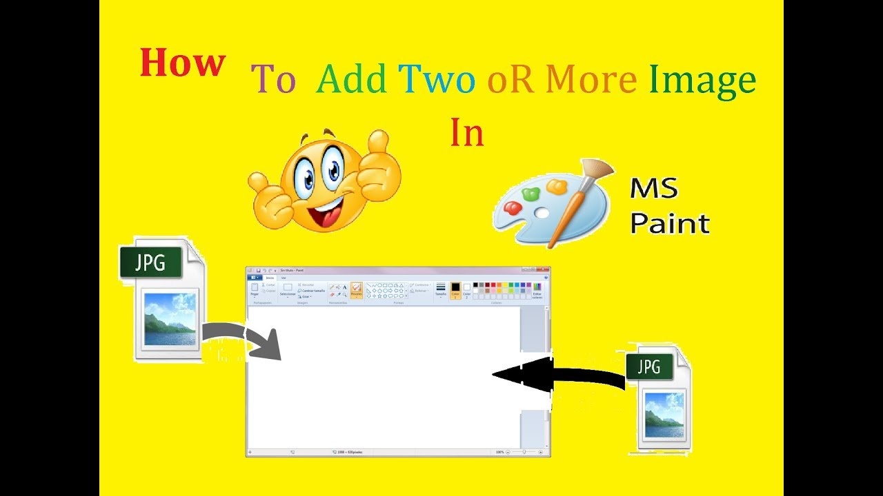 How To Add Two Image In Ms Paint Together By Deepanshu Pundir And
