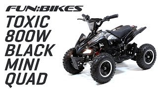 Product Overview: FunBikes Toxic 800w Black White Kids Electric Mini Quad Bike