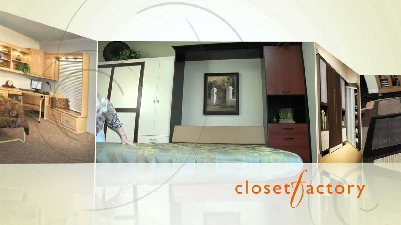 Superbe Wall Bed / Murphy Bed Commercial   Closet Factory Denver, Colorado   YouTube