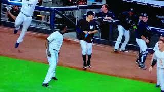 Tanaka jumping around like a Japanese schoolgirl, love him!