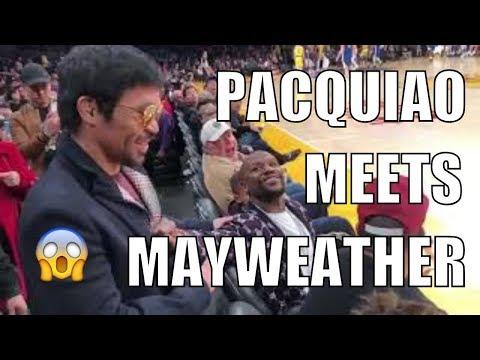 Pacquiao, Mayweather meet in NBA game thumbnail