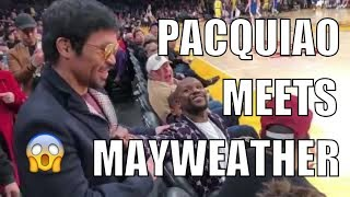 Pacquiao, Mayweather meet in NBA game