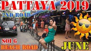 Pattaya daytime 2019 June - beach road, SOI6, 2nd road Lanlan