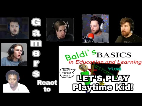 Gamers React to Baldi Basics in Education and Learning LET'S PLAY Playtime Kid!