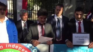 South Azerbaijani people demonstration 20/09/2015