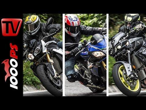 Power Naked Bike Vergleich | S 1000 R vs. MT 10 vs. Tuono V4 1100