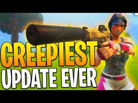 CREEPY Fortnite Update! (Spectator Count) - PS4 Fortnite BR Gameplay!