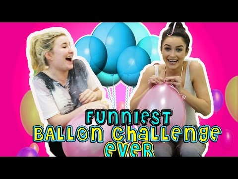 FUNNIEST BALLOON CHALLENGE EVER! Kelly and Carly Vlogs w/ AllAboutAoife!