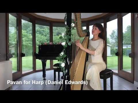 Baroque Music for Harp - Pavan (Daniel Edwards) - Sheet Music Link available